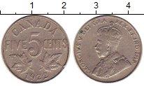 Изображение Монеты Северная Америка Канада 5 центов 1922 Медно-никель XF