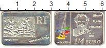 Изображение Монеты Франция 1/4 евро 2008 Серебро Proof