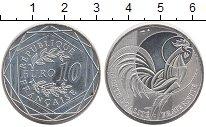 Изображение Монеты Франция 10 евро 2016 Серебро UNC Петух
