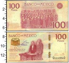 Изображение Банкноты Мексика 100 динар 2017  UNC
