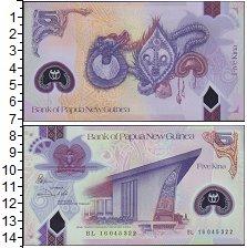 Изображение Банкноты Австралия и Океания Папуа-Новая Гвинея 5 кин 0 Пластик UNC