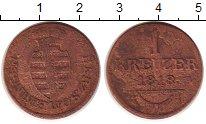Изображение Монеты Саксен-Майнинген 1 крейцер 1818 Медь VF
