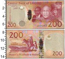 Изображение Банкноты Лесото 200 малоти 2015  UNC