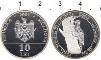 Изображение Монеты СНГ Молдавия 10 лей 2001 Серебро Proof-