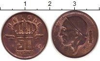Изображение Монеты Бельгия 50 сантим 1965 Бронза XF Гермес