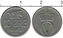Изображение Монеты Норвегия 10 эре 1961 Медно-никель XF