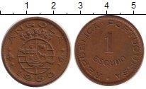 Изображение Монеты Ангола 1 эскудо 1963 Бронза XF Португальская колони