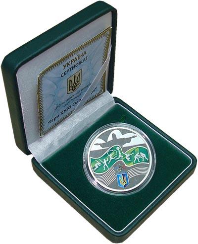 Изображение Подарочные монеты Украина Олимпиада в Рио-де-Жанейро 2016 Серебро Proof