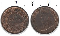 Изображение Монеты Азия Индия 1/12 анны 1933 Бронза UNC-