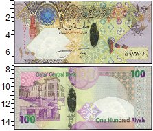 Изображение Банкноты Азия Катар 100 риал 2007  UNC