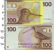 Изображение Банкноты Нидерланды 100 гульденов 1977  UNC-