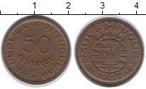 Изображение Монеты Мозамбик 50 сентаво 1957 Бронза XF Португальская колони