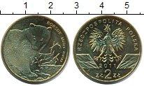 Изображение Монеты Польша 2 злотых 2011 Латунь UNC- Барсук