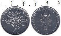 Изображение Монеты Европа Ватикан 50 лир 1974 Сталь UNC