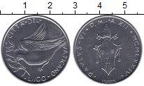 Изображение Мелочь Европа Ватикан 100 лир 1974 Сталь UNC