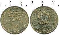 Изображение Монеты Польша 2 злотых 2012 Латунь UNC- 20 лет Большому Благ