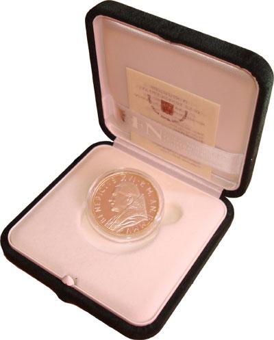 Изображение Подарочные монеты Ватикан Понтификат Бенедикта XVI 2005 Серебро Proof