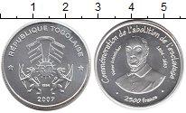 Изображение Монеты Того 2500 франков 2007 Серебро UNC