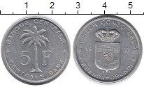 Изображение Монеты Бельгия Бельгийское Конго 5 франков 1958 Алюминий XF
