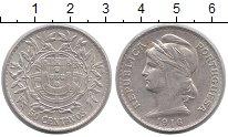 Изображение Монеты Европа Португалия 50 сентаво 1916 Серебро XF