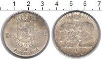 Изображение Монеты Европа Бельгия 100 франков 1950 Серебро XF+