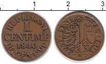 Изображение Монеты Швейцария Женева 1 сентим 1840 Медь XF