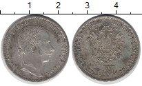 Изображение Монеты Австрия 1/4 флорина 1860 Серебро XF-