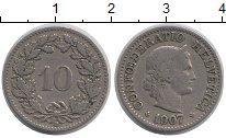 Изображение Монеты Швейцария 10 рапп 1907 Медно-никель XF