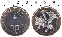 Изображение Мелочь Швейцария 10 франков 2017 Биметалл UNC