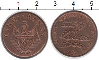 Изображение Монеты Руанда 5 франков 1987 Бронза UNC-