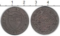 Изображение Монеты Швейцария Вауд 1/2 батзена 1814 Серебро XF-