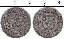 Изображение Монеты Швейцария Цюрих 1 шиллинг 1741 Серебро VF