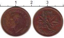 Изображение Монеты Канада 1 цент 1942 Бронза XF