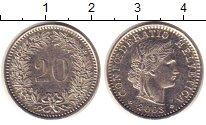 Изображение Монеты Швейцария 20 рапп 2003 Медно-никель XF
