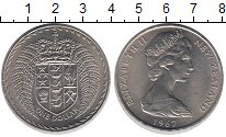Изображение Монеты Австралия и Океания Новая Зеландия 1 доллар 1967 Медно-никель UNC-