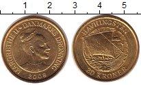 Изображение Мелочь Дания 20 крон 2008 Латунь UNC
