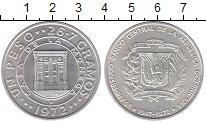 Изображение Монеты Северная Америка Доминиканская республика 1 песо 1972 Серебро UNC