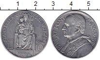 Изображение Монеты Европа Ватикан 10 лир 1934 Серебро XF