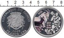 Изображение Монеты Африка Конго 1000 франков 2015 Серебро Proof