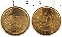 Изображение Мелочь Сан-Марино 20 евроцентов 2008 Латунь UNC-