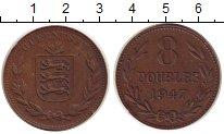 Изображение Монеты Гернси 8 дублей 1947 Бронза XF