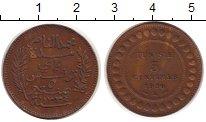 Изображение Монеты Африка Тунис 5 сентим 1916 Бронза XF