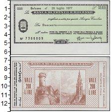Изображение Банкноты Италия 200 лир 1977  XF Банковский чек