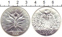 Изображение Монеты Европа Италия 10000 лир 2000 Серебро UNC