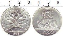 Изображение Монеты Италия 2000 лир 1998 Серебро UNC