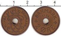 Изображение Монеты Дания 2 эре 1936 Бронза XF