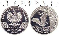 Изображение Монеты Польша 20 злотых 2010 Серебро Proof Малый  подковонос