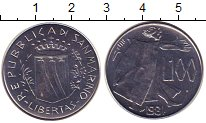 Изображение Монеты Сан-Марино 100 лир 1981 Железо XF
