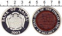 Изображение Монеты Науру 10 долларов 2002 Серебро Proof