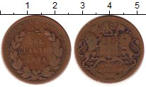 Изображение Монеты Индия 1/4 анны 1834 Медь VF